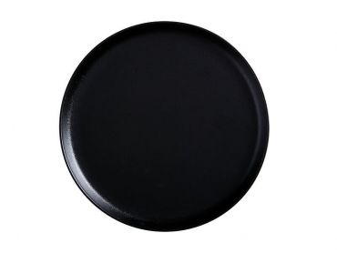 Caviar High Rim Platter 28cm Black