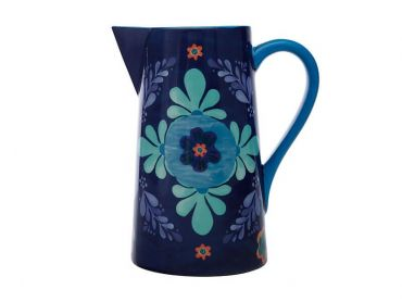 Majolica Pitcher 2.4L Blue
