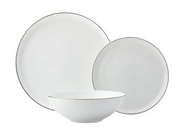 Cashmere Luxe High Rim Dinner Set 12pc Gold