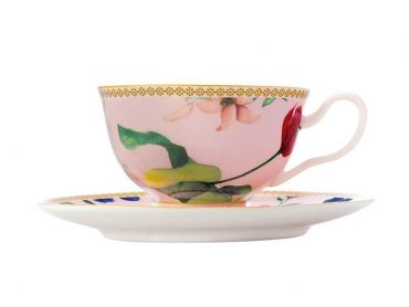 Teas & C's Contessa Footed Cup & Saucer 200ML Rose