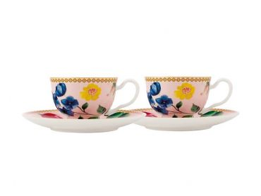 Teas & C's Contessa Demi Cup & Saucer 85ML Set of 2 Rose