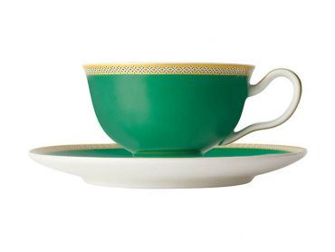 Teas & C's Contessa Classic Footed Cup & Saucer 200ML Green
