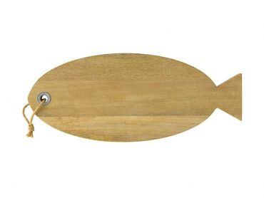 Reef Mango Wood Fish Board with Hemp Rope 58cm