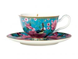 Teas & C's Silk Road Footed Cup & Saucer 200ML Aqua Gift Boxed